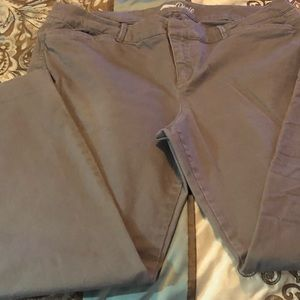 Old Navy Gray Pixie pants size 14